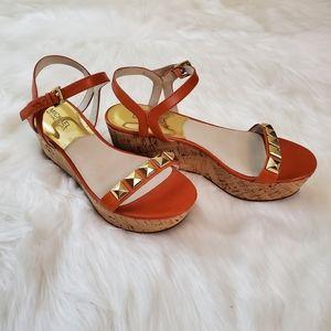 Michael Kors Sz 9 Persia Studded Platform Sandals